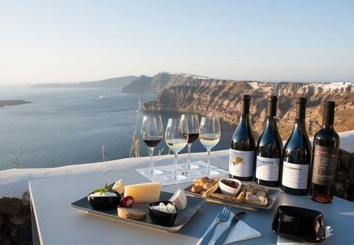 What makes Santorini red wine taste so excellent?